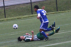 soccer collision - red card?