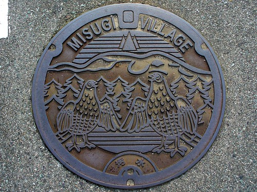 Misugi Mie, manhole cover (三重県美杉村のマンホール)