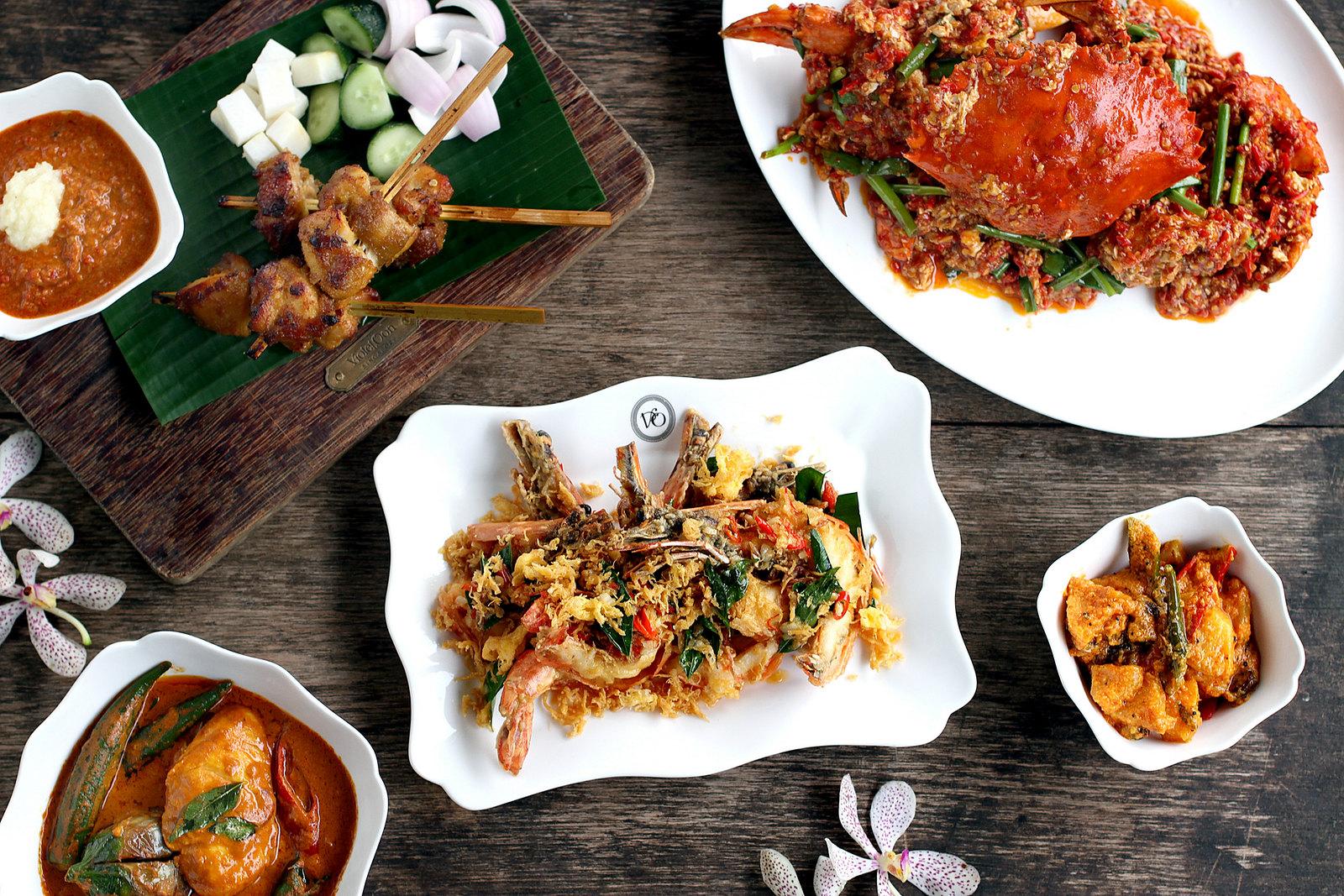 新加坡紫罗兰餐厅的国家厨房-食品摊