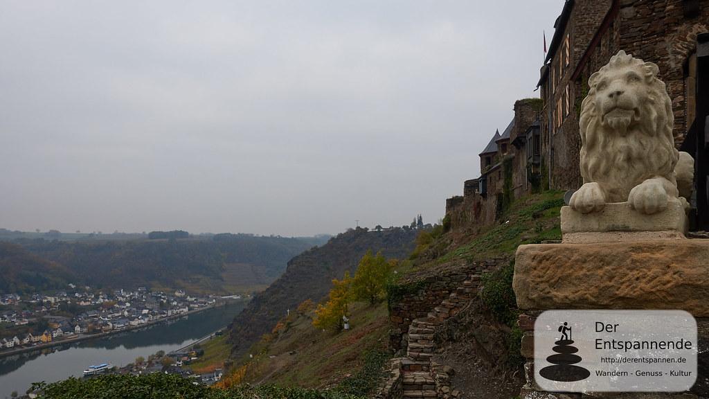 Moselsteig Etappe 22: Blick an der Burg Thurant