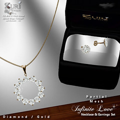 Zuri's Infinite Love Set P-Mesh Diamond_Gold