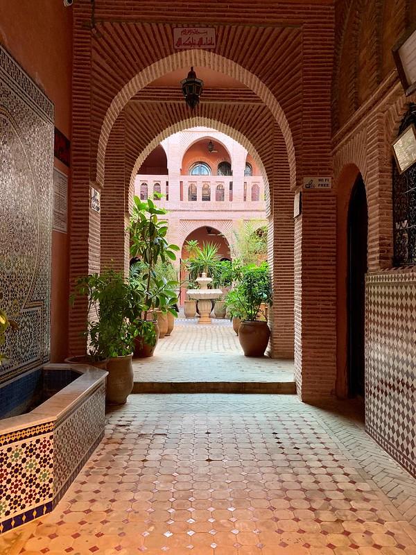 Entrata in uno dei riad a Marrakech