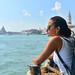 2. En uno de los ferries que navegan la laguna de Venecia
