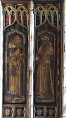 north aisle screen: Baruch and Hosea (15th Century)