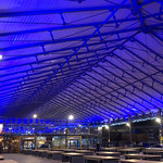 Blue canopy of Preston Market