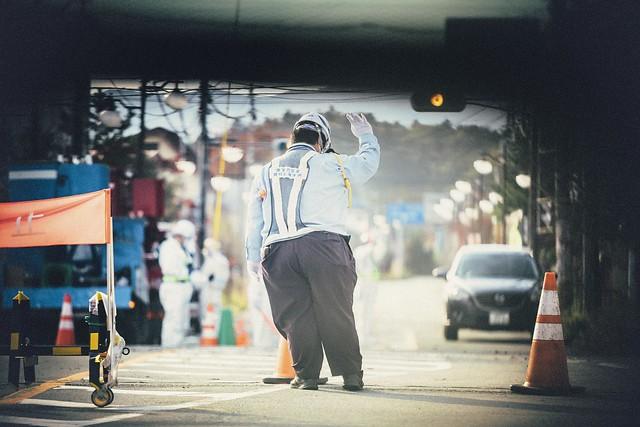 "Nov. 07. 2018  ""警備員 /  Security guard""  Futaba, Fukushima(撮影:東間嶺)"