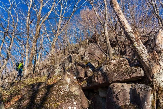 岩岩の斜面