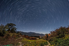Snowy Mountain Range star trail ,Taiwan
