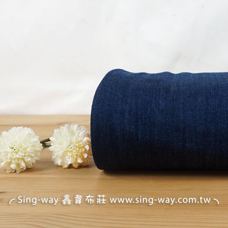 素面深藍牛仔 素色簡約 牛仔服裝布料 CE1290042