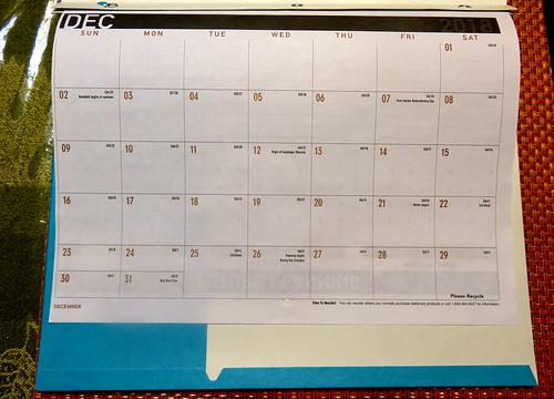 December 2018 Diary
