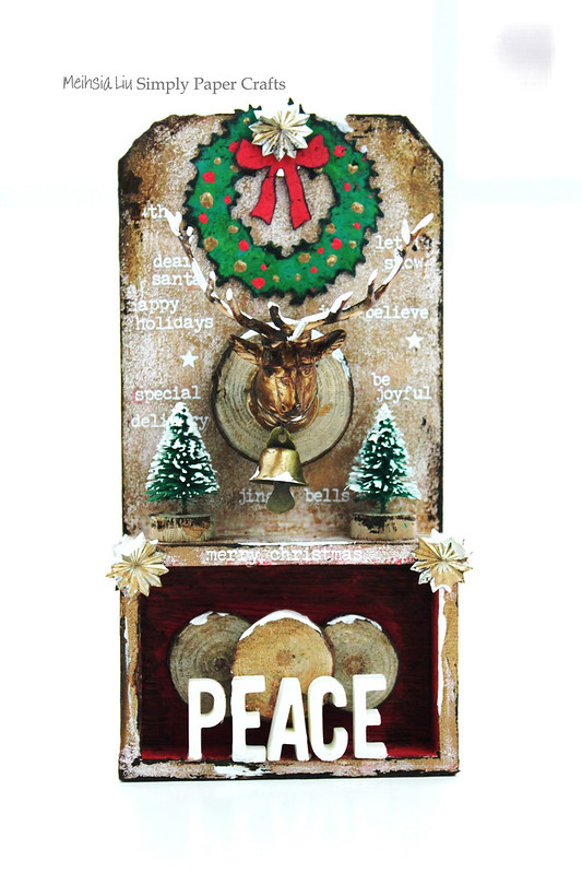 Meihsia Liu Simply Paper Crafts Mixed Media Tag Gift It Christmas Decor Simon Says Stamp Tim Holtz 2