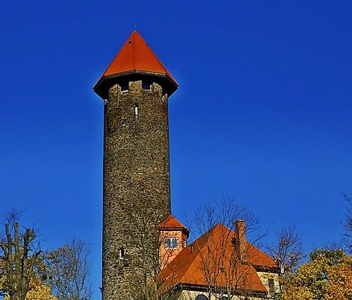 Schlossturm von Auerbach/Vogtland - Castle tower of Auerbach / Vogtland