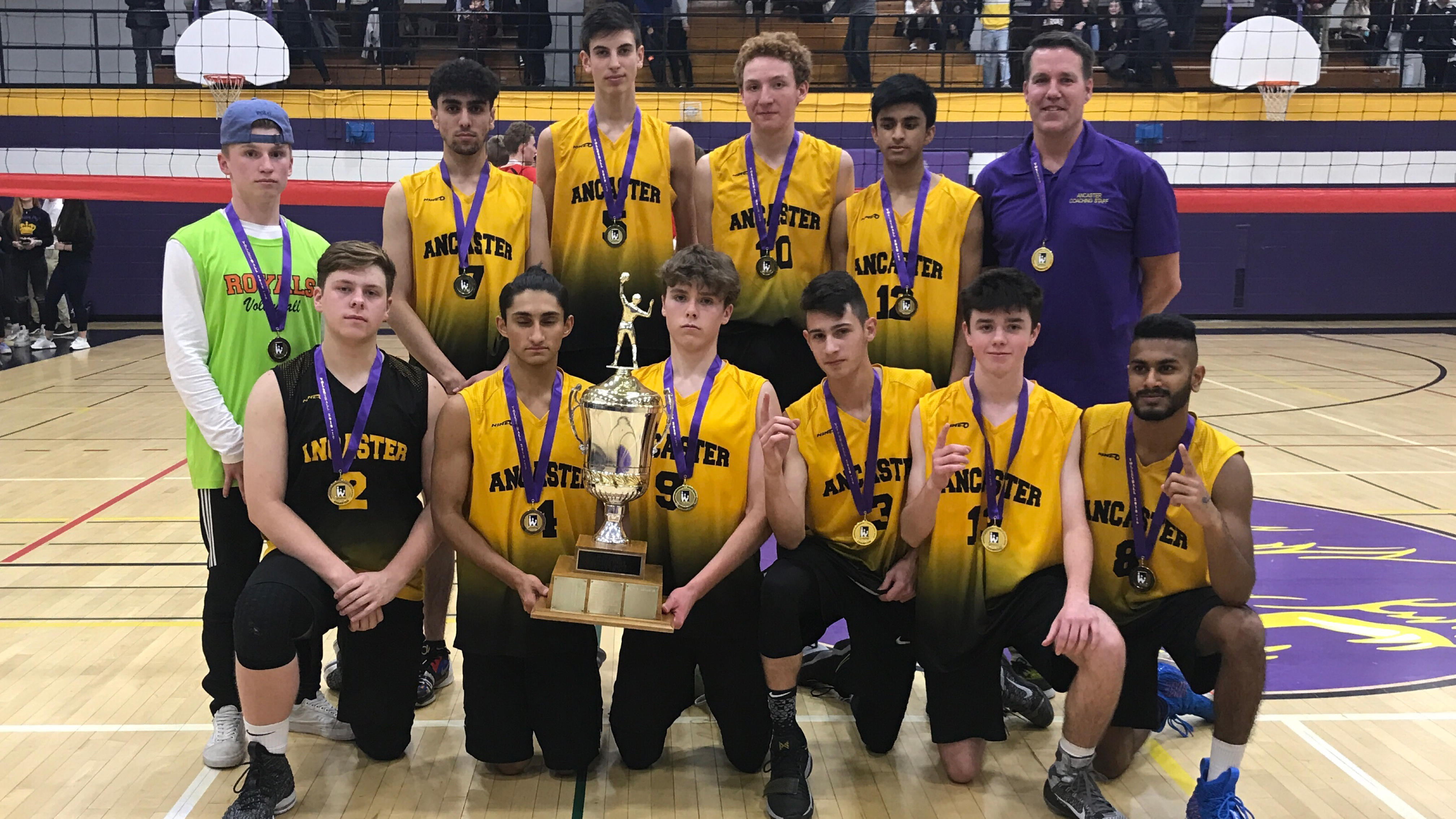 2018-19 HWIAC Senior Boys Volleyball Champions: Ancaster Royals