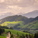 6. Mai 2018 - 15:20 - the small church of  san giovanni in ranui in the background of villnöß valley; more: www.kleptography.eu