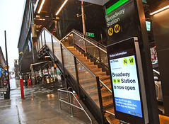 Reopening of Broadway station on the Astoria Line