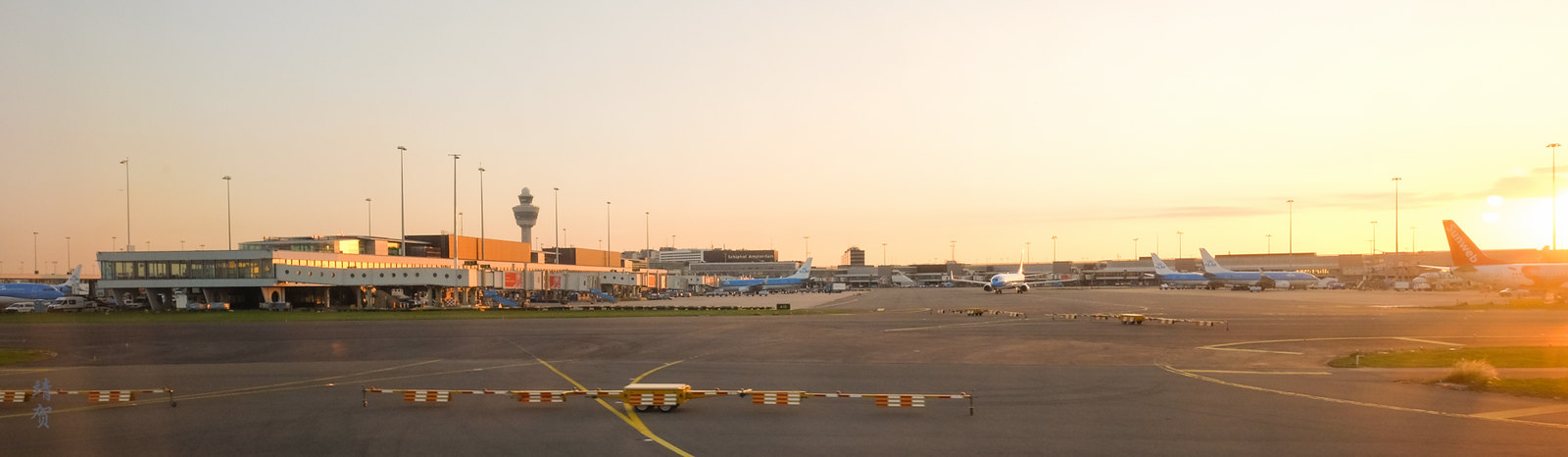 Sunset over Schiphol