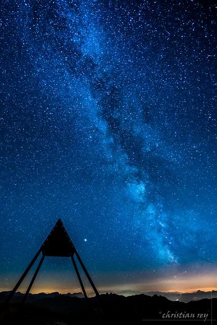 Milky-way on the top of Moléson (Switzerland)