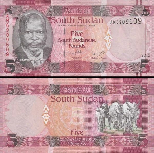 5 Juhosudánskych Libier Južný Sudán 2015, P6b