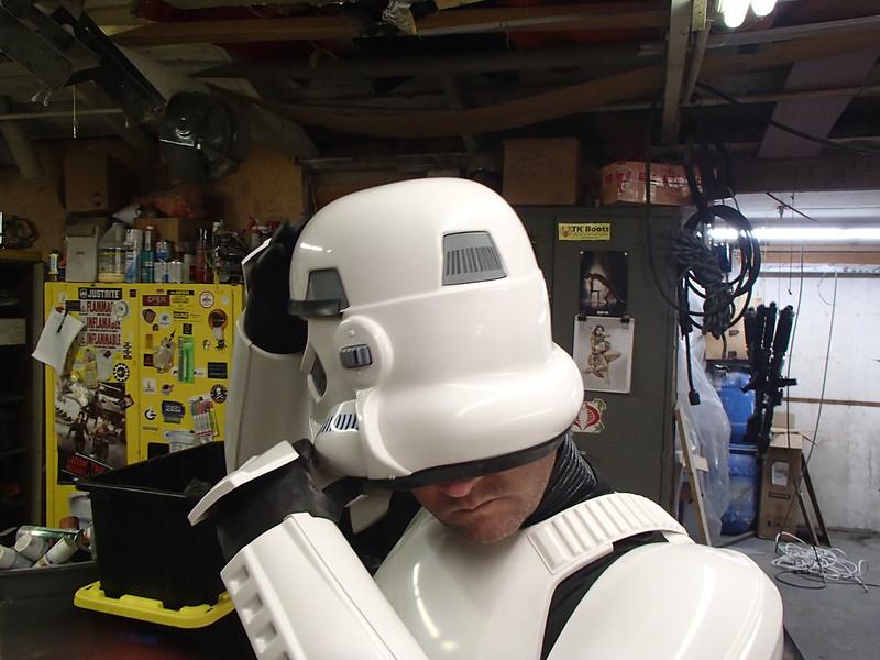 Anovos TK Kit Final Donning Helmet