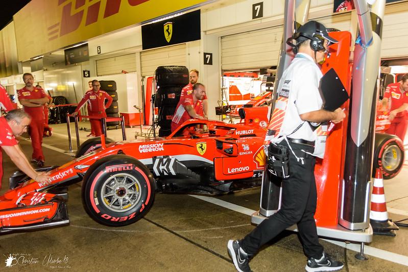 Kimi Raikkonen's Scuderia Ferrari SF71H