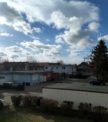 Das Wetter heute - Blick vom Balkon