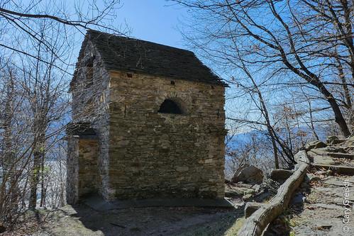 La 'Capèla Rota' sur les hauteurs de Brione sopra Minusio (Ticino) (18/02/2019 -08)