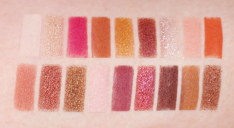 roo faced gingerbread spice eyeshadow palette swatches