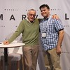 "I was fortunate to have met Stan Lee few times over the years at SDCC, BigWow and comic shop signings. My first time all I could do was stammer, ""Nice to meet you... Big fan..."" The most unexpected location, and the only one I have a picture standing next"