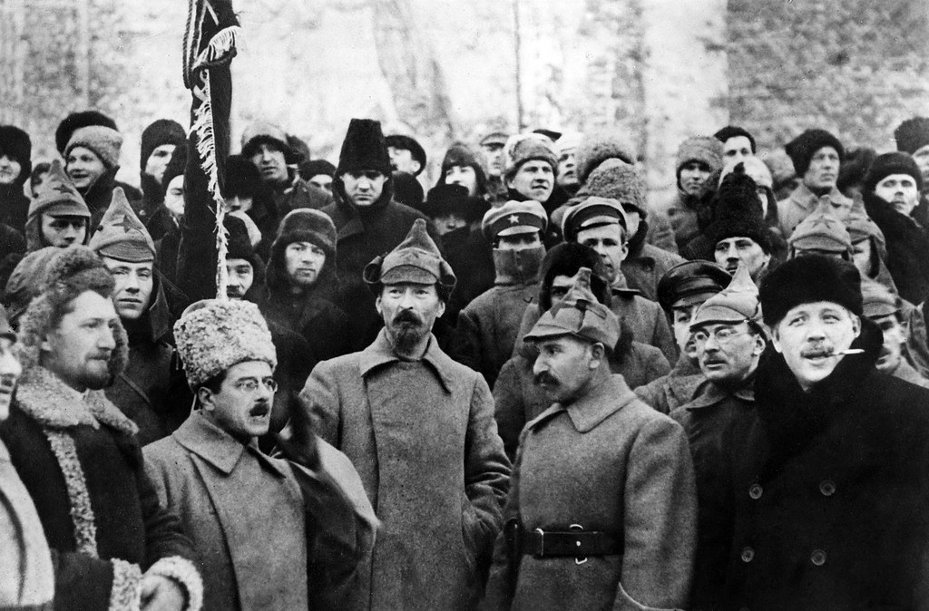 1921. Ф.Э.Дзержинский во время парада на Красной площади
