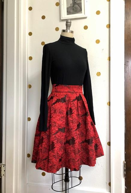 Brocade Skirt + Merino Bodysuit