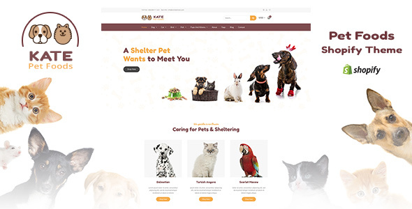 Kate v1.1 - Dog & Pets Food Store Shopify Theme