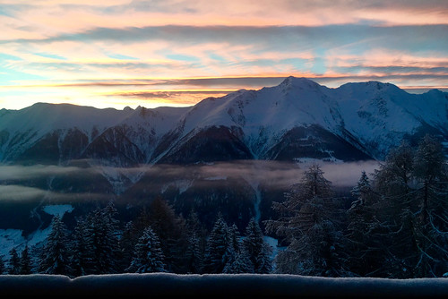 Before sunrise in the alps