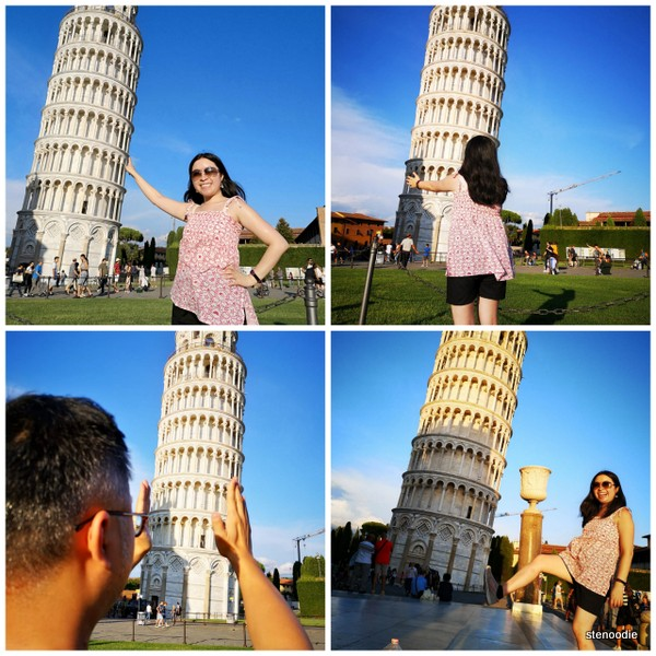 tourist photos with the Leaning Tower