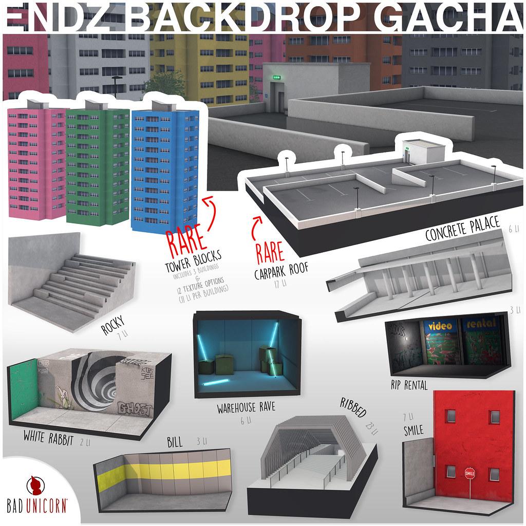 Endz Backdrop Gacha @ The Arcade - TeleportHub.com Live!