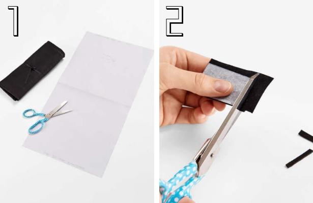 DIY Fashion Clutch Steps 1 2