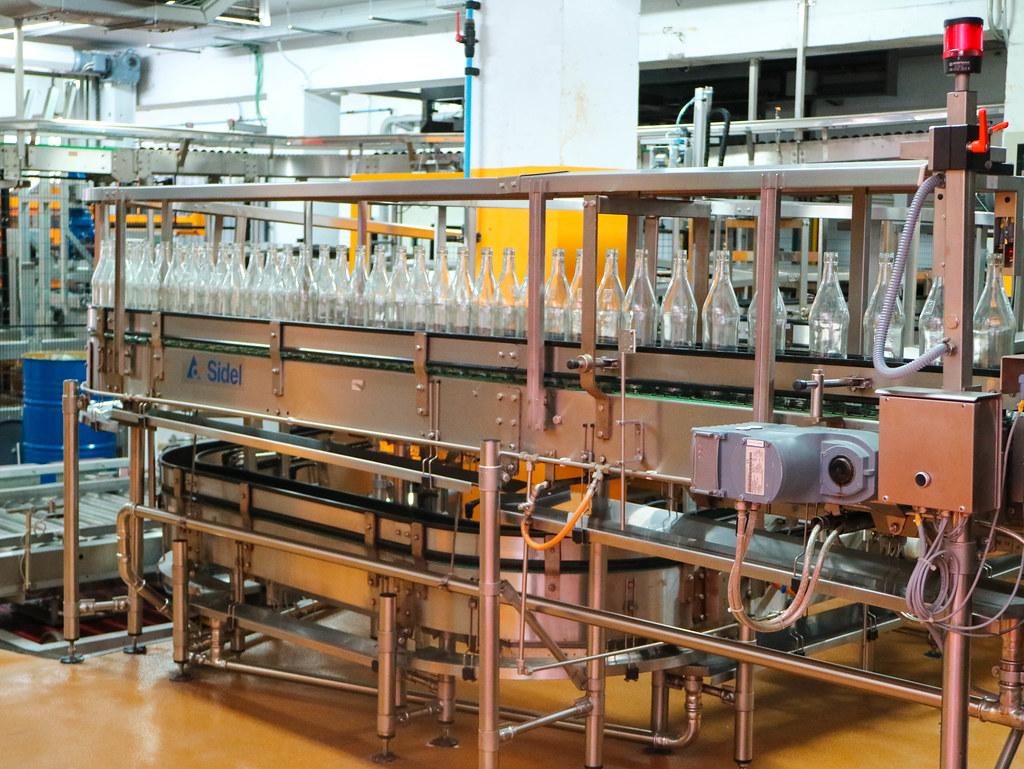Interior de la fábrica de ron