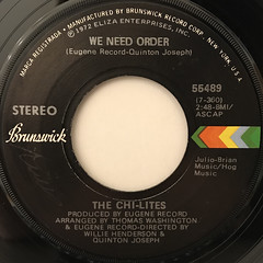 THE CHI-LITES:WE NEED ORDER(LABEL SIDE-A)