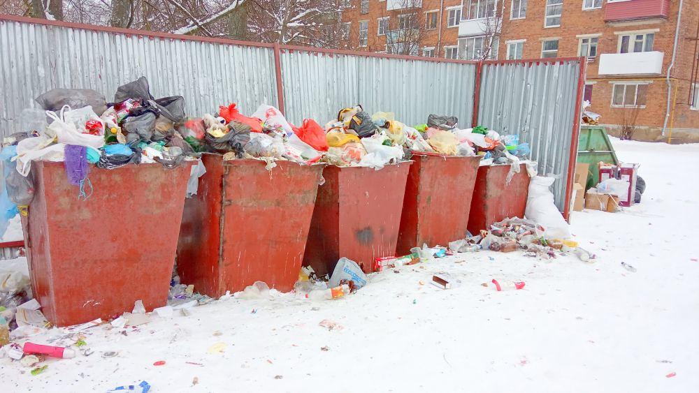 Контейнерная площадка в районе домов №№ 3, 5 по улице Чернышевского