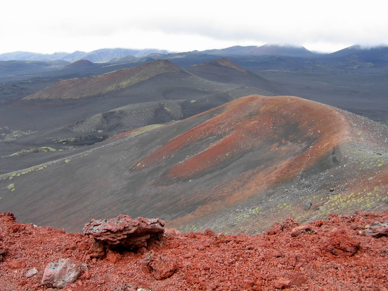 Панорама конусов Толбачика, Камчатка
