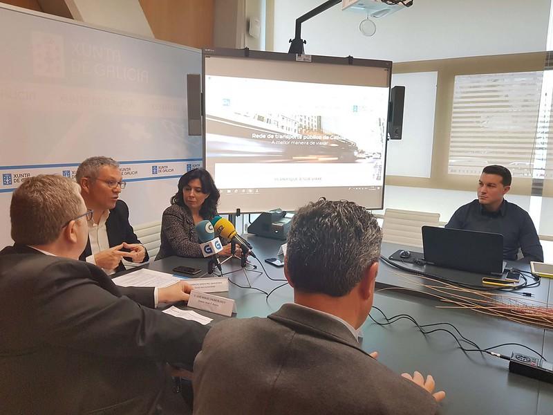 Presentación das novas funcionalidades da aplicación e do portal de Transporte Público de Galicia, bus.gal