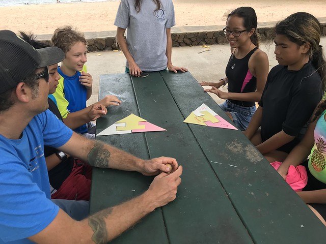 Waikoloa Ocean Warriors Wildfire Education at Spencer Beach 4/21/18
