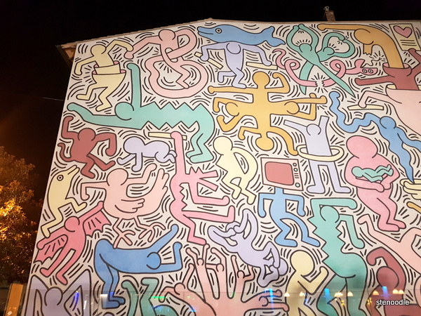 Tuttomondo mural by Keith Haring