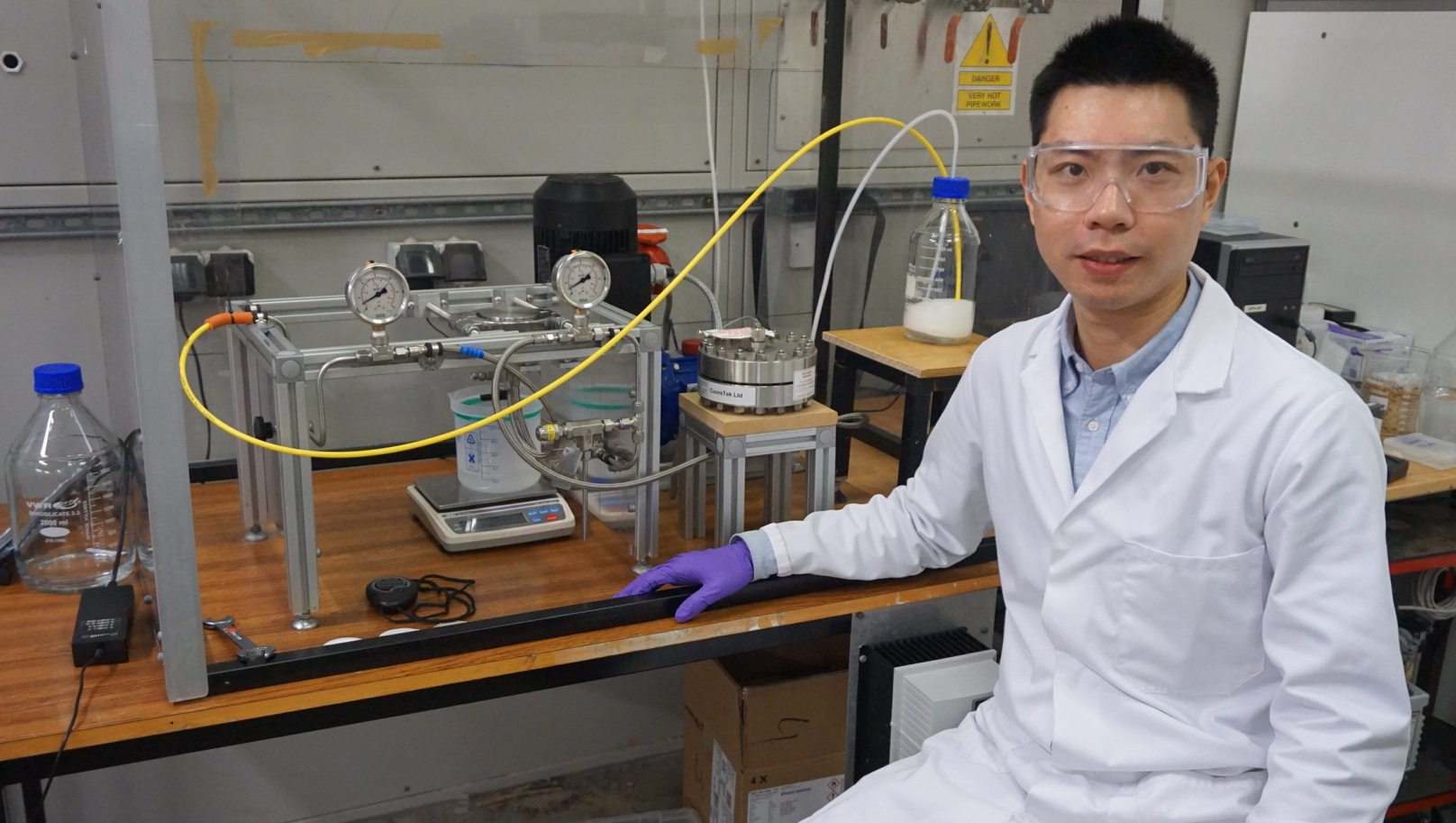 Dr Junjie Shen is developing a safe and affordable way of removing harmful excessive fluoride in the water supply used by communities in East Africa.