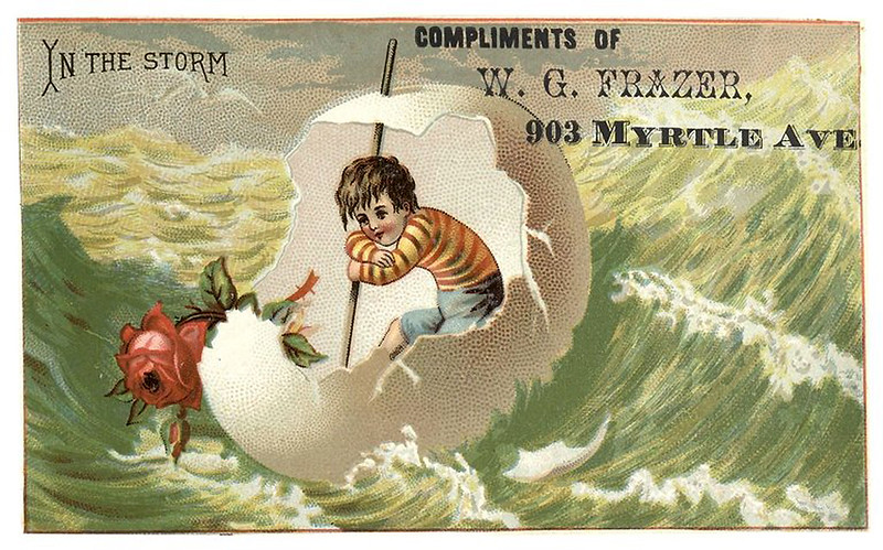 004-Scrapbook of trade cards 1877-1894- Brooklin Museum