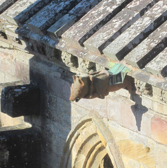 Melrose Abbey Decoration  pig