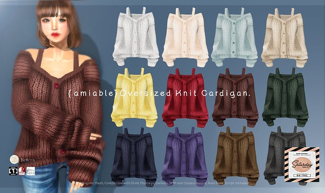 "{amiable}""SATURDAY SALE""Knit Cardigan &""BLACK FRIDAY SALE""@the main store."