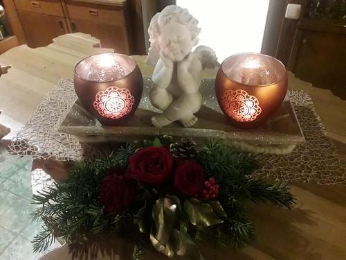 Engel und Kerzen