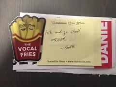 Vocal Fries sticker