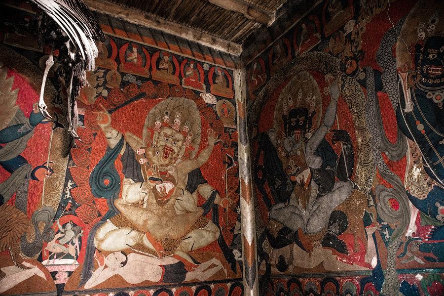 Гневные божества буддизма. Зал Махакалы, Пьянг гомпа, Ладакх