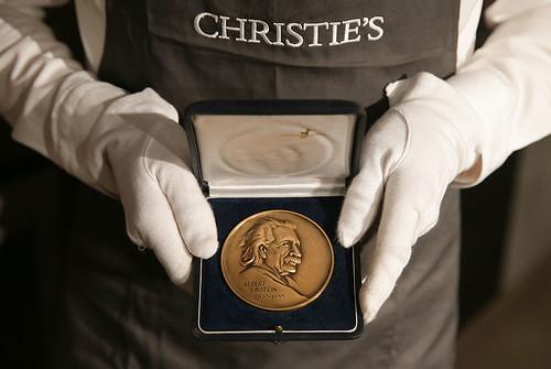 Stephen HAwking's Einstein medal